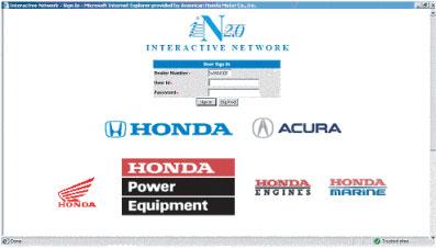 Honda Diagnostic Systems